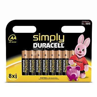 Duracell Pilas Simply AA - LR6 8 ud