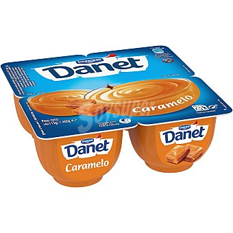 DANONE DANET Duo natillas con caramelo fundido pack 4 unidades 115 g
