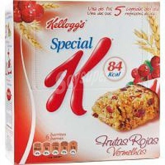 Kellogg's Barritas de Frutas rojas Pack de 6x21,5 g