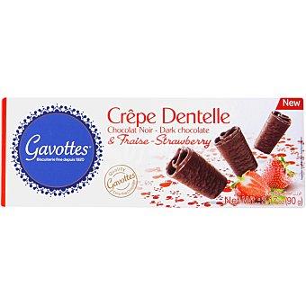 GAVOTTES Galleta crepes con chocolate negro y fresa Estuche 90 g