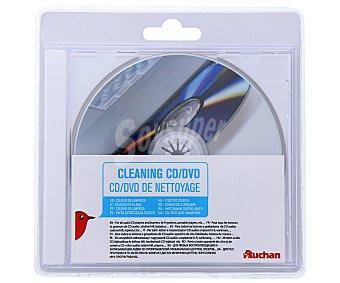 AUCHAN 400293 Disco de limpieza, para reproductores de CD y DVD