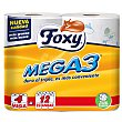 Papel higiénico triple capa 4 uds FOXY Mega 3