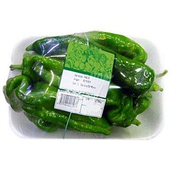 Pimientos verdes cuerno cabra peso aproximado Bandeja 800 g