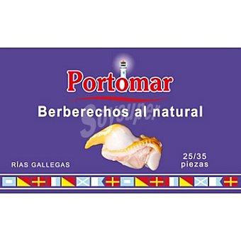 Portomar Berberechos de las rías gallegas al natural 25-35 piezas lata 63 g neto escurrido lata 63 g neto escurrido