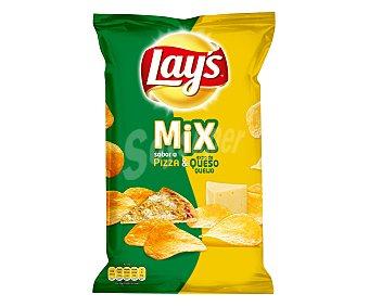 Lay's Patatas fritas mix sabor pizza y extra de queso  Envase de 170 g