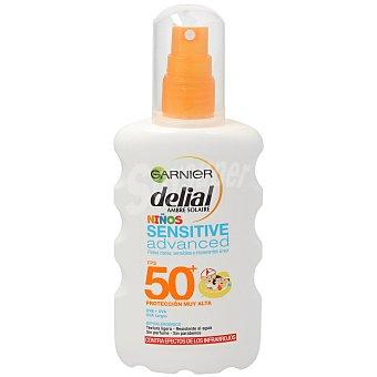 Delial Garnier Sensitive Advanced protector solar spf 50+ para niños Spray 200 ml