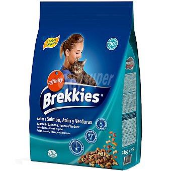 Brekkies Affinity Pescado con salmón atún verduras calcio y vitaminas  Paquete de 4 kg