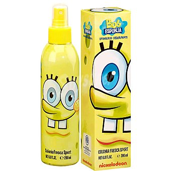 BOB ESPONJA colonia fresca sport infantil  spray 200 ml