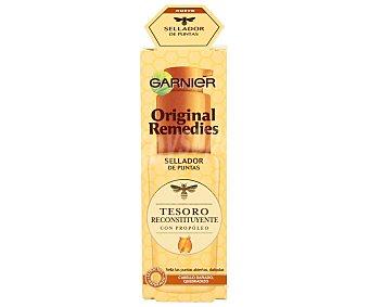 ORIGINAL REMEDIES Sellador de puntas reconstituyente con propóleo tesoros de miel para cabello dañado y quebradiz Frasco de 50 ml