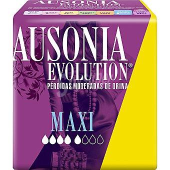 AUSONIA EVOLUTION Compresa de incontinencia Maxi normal para pequeñas pérdidas bolsa 8 unidades Bolsa 8 unidades