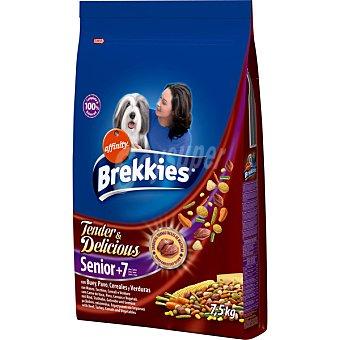 AFFINITY BREKKIES EXCEL SENIOR Tender & Delicious Para perros mayores de 7 años de buey y verduras Bolsa 7,5 kg
