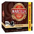 Café ristretto en cápsulas Marcilla compatible con 40 unidades de 5,2 g Nespresso
