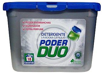Bosque Verde Detergente lavadora líquido cápsulas Poder Duo (quitamanchas e iluminador) 18 lavados