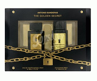 Secret Golden Estuche Colonia + Desodorante Spray 50 Mililitros + 150