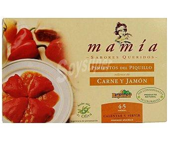 Mamía Pimientos del piquillo rellenos de carne y jamón 230 gramos