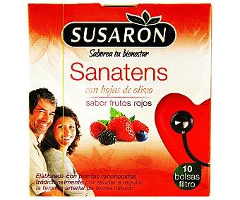 Susaron Infusión sanatens con hojas de olivo y sabor frutos rojos (elaborada con plantas reconocidas tradicionalmente por ayudar a regular la tensión arterial de forma natural) 10 unidades
