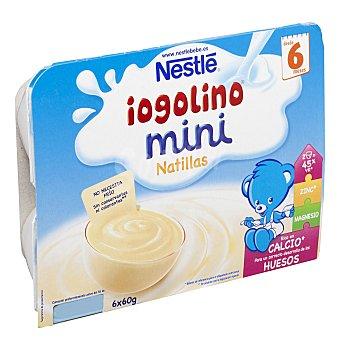 Nestlé Iogolino mini natillas Pack 6x60 g