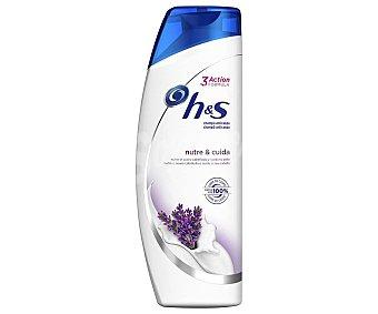 H&S Champú anticaspa, con extracto de lavanda nutre Y cuida 380 ml