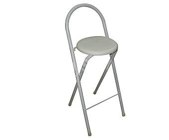 Sdpe Taburete metálico alto y plegable, con asiento acolchado de Pvc de color blanco, modelo Glory y medidas de 95x36x36 centímetros 1 unidad