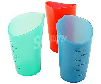 Actuel Vaso medidor de plástico, de capacidad, varios colores, actuel 0,3 litros