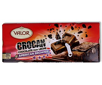 Valor Chocolate con leche y brownie 200 gramos