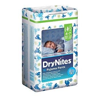 Dry Nites Calzoncillos drynites de noche absorbentes para niños 4-7 años, 17-30 kg Paquete 16 unidades