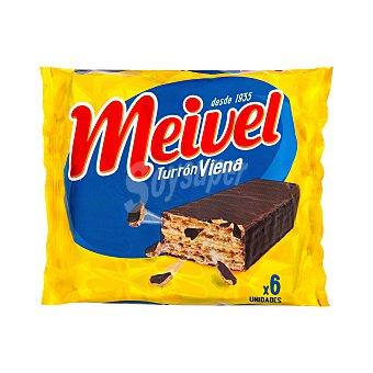 Meivel Chocolatina turrón viena Pack 6 x 30 g