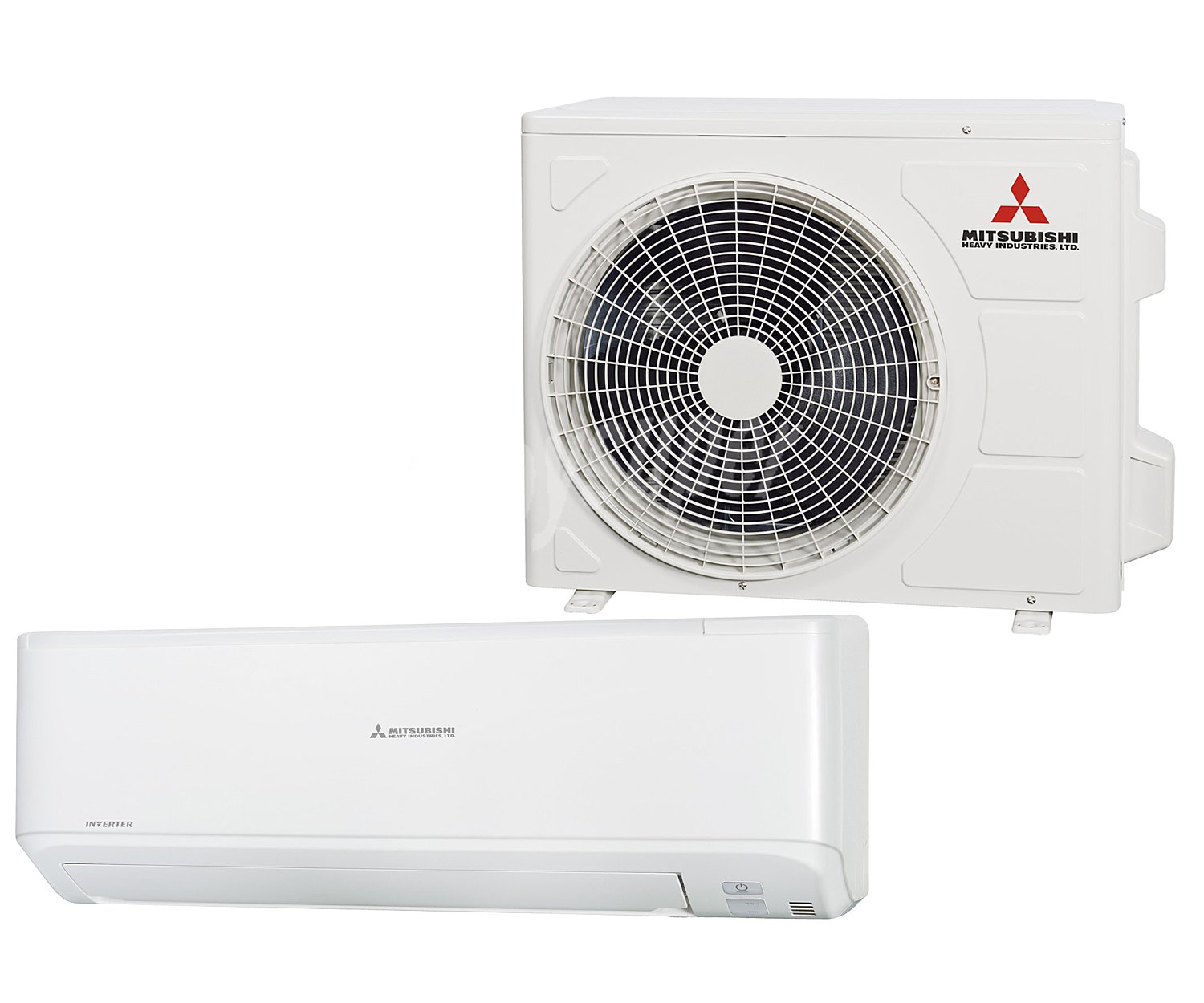 Mitsubishi dxk09x5 aire acondicionado split de pared con for Bomba de calor inverter
