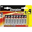 Pila Max +power AA (lr6) blister 8 unidades + 4 gratis Blister 8 unidades + 4 gratis Energizer