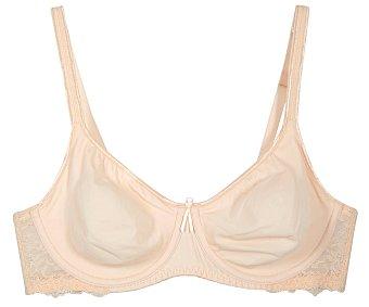 SELENE Danielle Sujetador con aros color rosa, talla 105B.