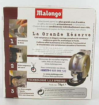 Malongo Café Gran Reserva Monodosis 12 Unidades 78 Gramos