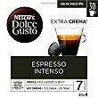Café Espresso Intenso Premium arábica y robusta de Colombia y Vietnam intensidad 7 Estuche 30 cápsulas Dolce Gusto Nescafé