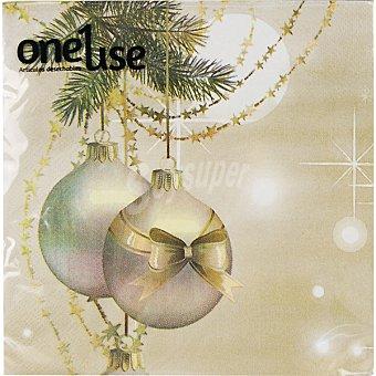 Oneuse Servilletas decorado navidad 2 capas 33X33 cm Paquete 20 unidades