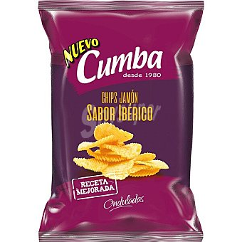 Cumba Patatas fritas onduladas sabor jamón ibérico Bolsa 150 g