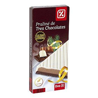 DIA Praliné de tres chocolates estuche 200 gr Estuche 200 gr