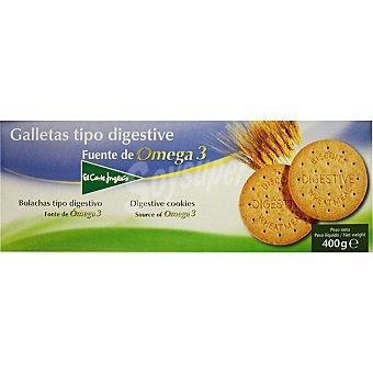 El Corte Inglés Galletas tipo Digestive con omega 3 paquete 400 g
