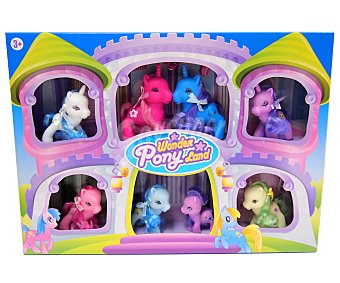 WONDER PONYLAND Caja Castillo con 10 Ponis de Colores 1 Unidad