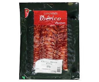 Auchan Chorizo ibérico extra en lonchas 100 gramos