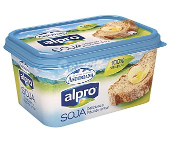 Central Lechera Asturiana Crema vegetal de soja para untar Alpro tarrina de 500 gramos