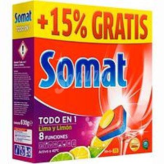 SOMAT Todo en 1 Lavavajillas máquina gel limón Caja 35 dosis
