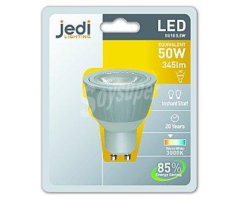 Jedi Bombilla foco led 5,5 Wattios, casquillo GU10, luz cálida 1 Unidad