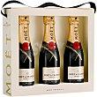 Moet & chandon Imperial champagne brut Estuche 3 botellas 20 cl Estuche 3 botellas 20 cl Moët & Chandon