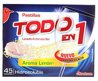 Auchan Lavavajillas limón Todo en 1 60 Dosis (960 Gramos)
