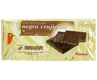 Auchan Turrón de chocolate negro 300 gramos