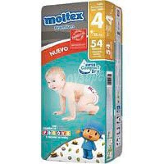 Moltex Pañal Premium 9-15 kg Talla Grande Paquete 54 unid