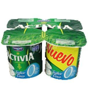 Activia Danone Activia 0% sabor coco Pack de 4x125 g