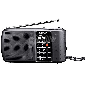 Daewoo Radio am/fm portátil con altavoz en color negro DRP-14