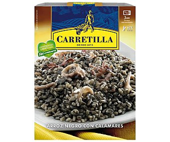 CARRETILLA Arroz negro con calamares envase 300 g