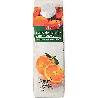 Aliada Zumo de naranja con pulpa Envase 1 l