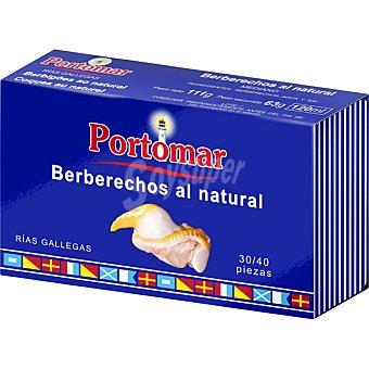 PORTOMAR SERIE NAUTICA Berberechos de las rías gallegas al natural 30-40 piezas Lata 63 g
